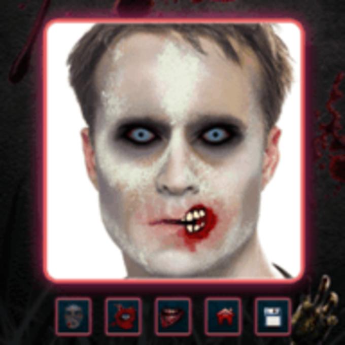 Effets de visage de Zombie