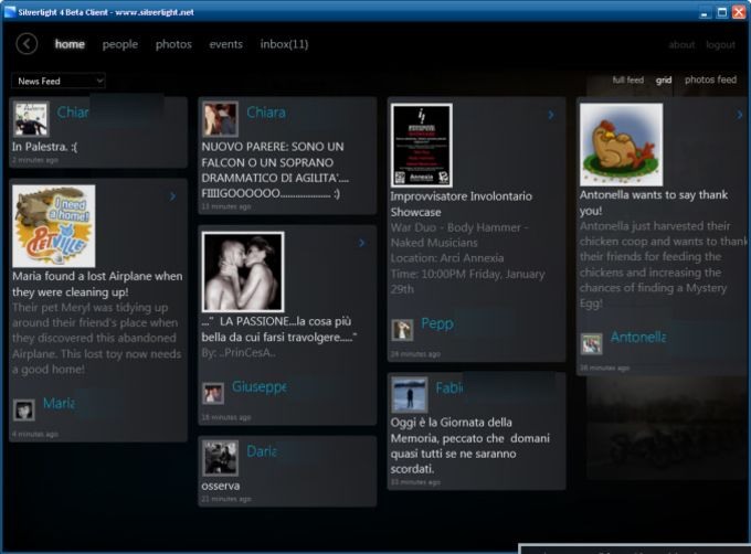 Silverlight Client for Facebook