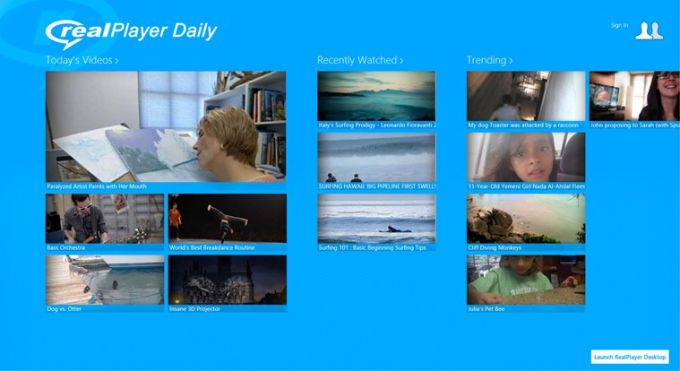 RealPlayer Daily Videos for Windows 10