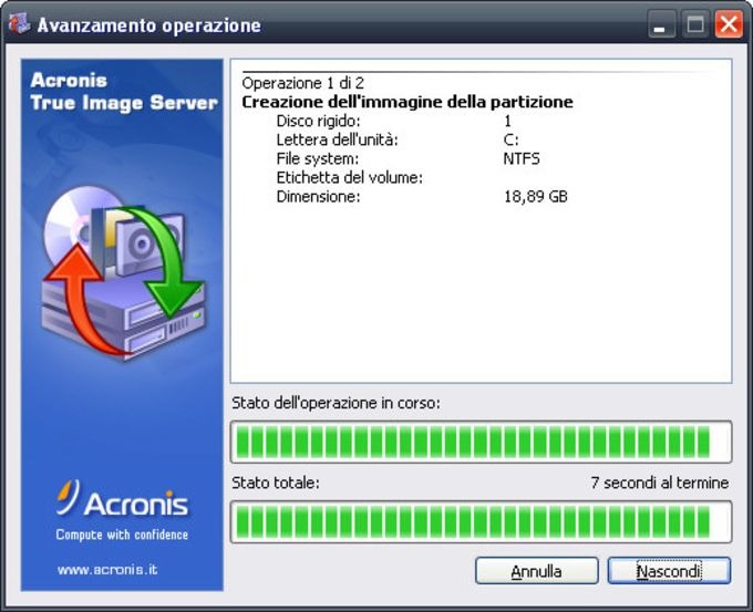 Acronis True Image Echo Server per Windows
