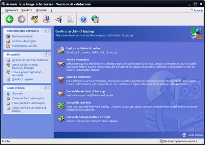 Acronis True Image Echo Server per Windows