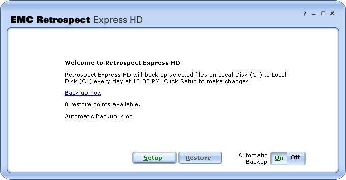 EMC Retrospect Express HD