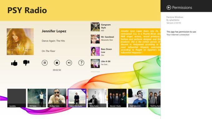 Pandora Windows