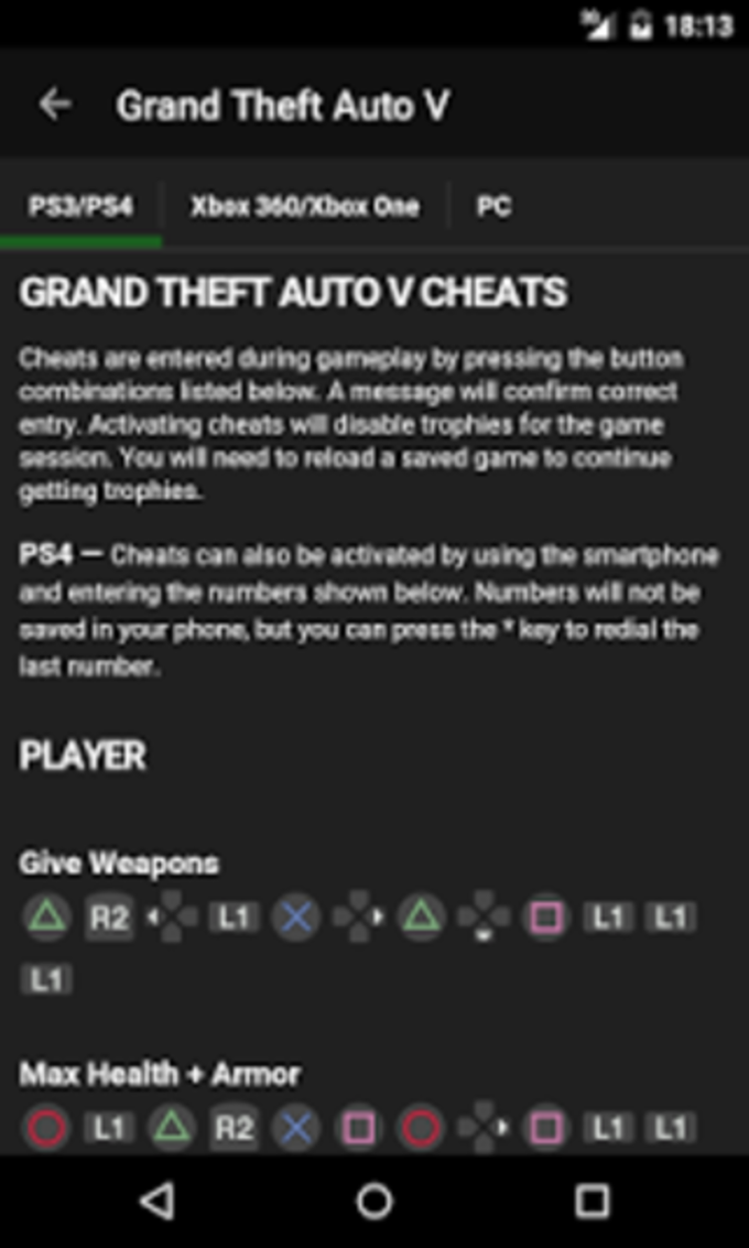 GTA for Cheats