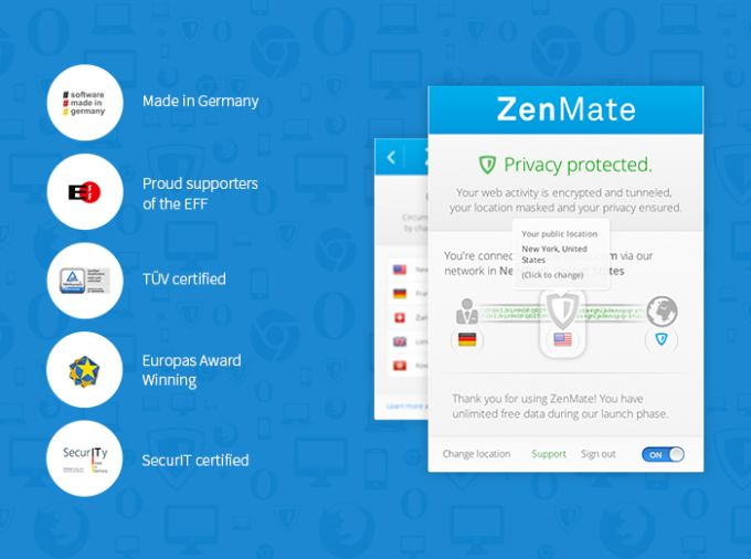 ZenMate VPN for Firefox