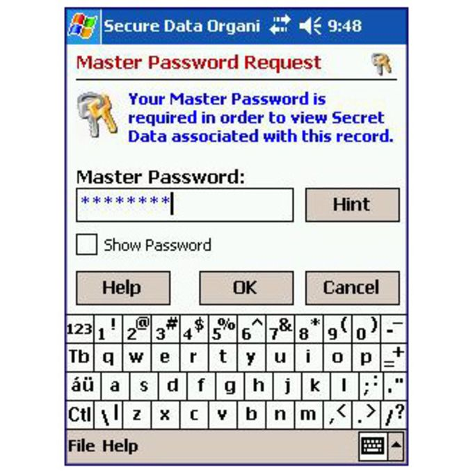 Pocket Secure Data Organizer