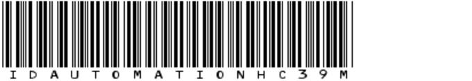 IDAutomationHC39M Font