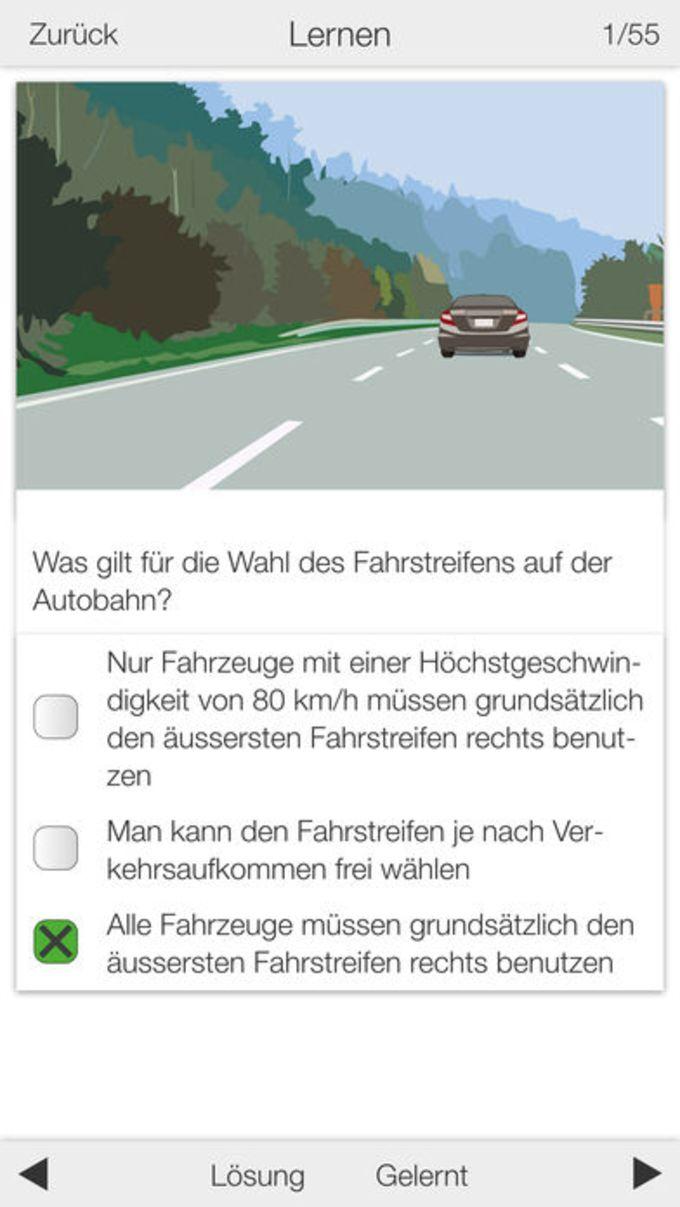 Autoprüfung Schweiz 2019