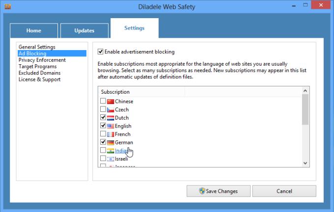 Diladele Web Safety