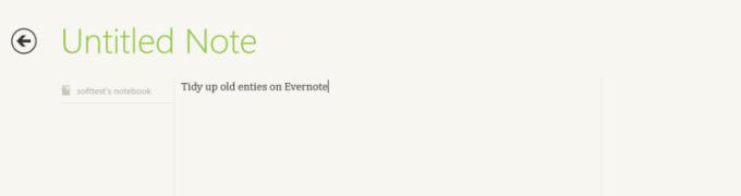 Evernote voor Windows 10