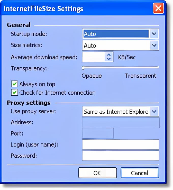 Internet File Size