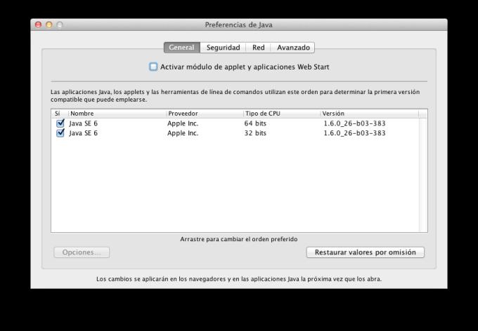Java para OS X 10.8