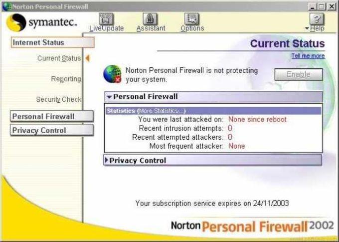 Norton Personal Firewall