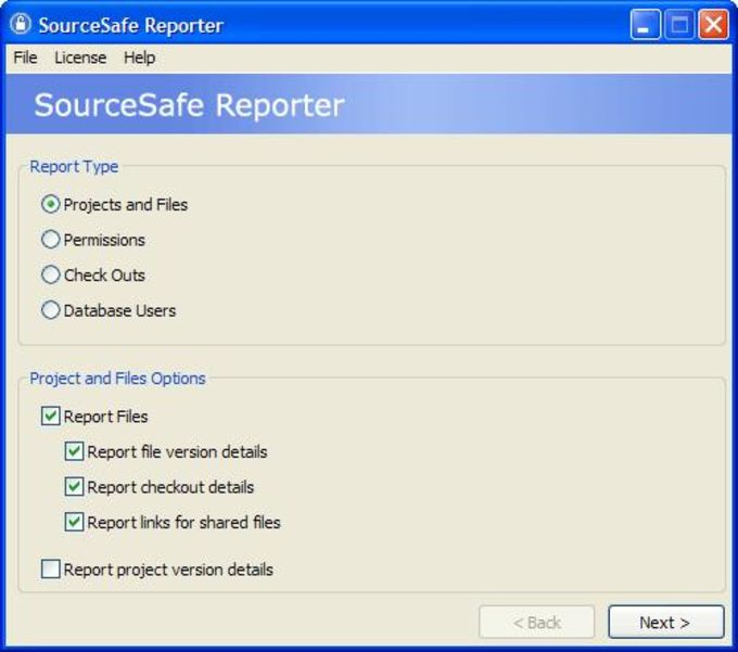 SourceSafe Reporter