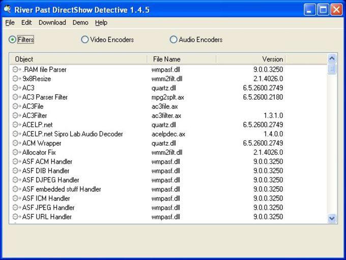 River Past DirectShow Detective