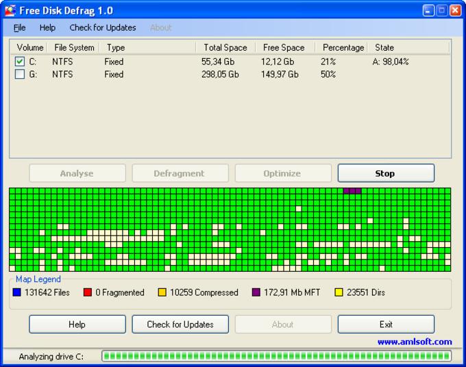 Free Disk Defrag