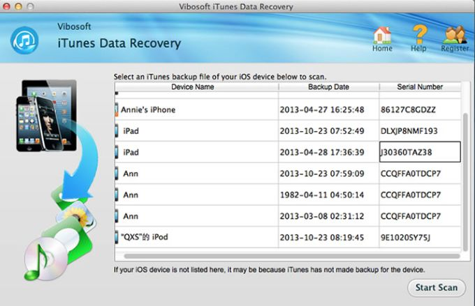 Vibosoft iTunes Data Recovery for Mac