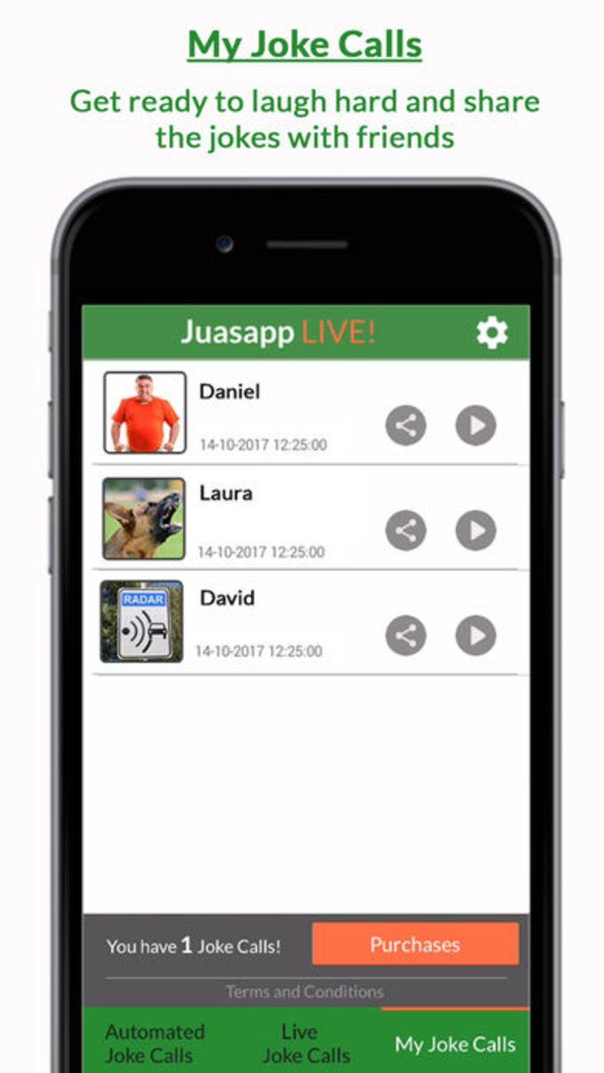 Juasapp Live - Live Joke Calls