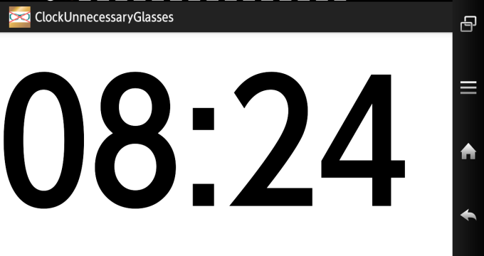 メガネ不要時計