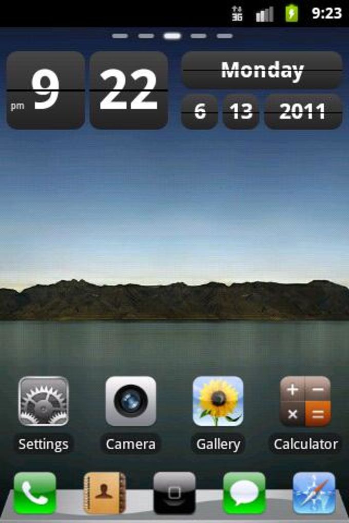 Tema iPhone GO Launcher Ex