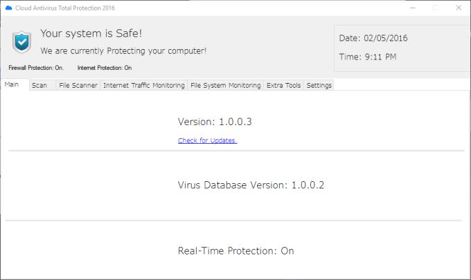 Cloud Antivirus Total Protection 2016