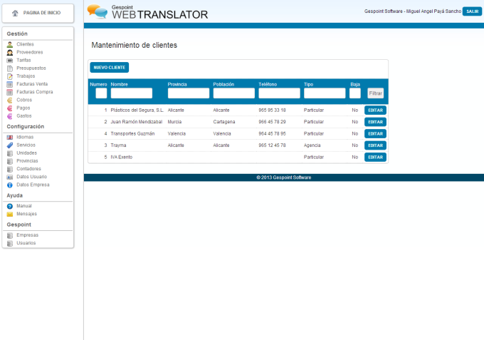 Gespoint Web Translator