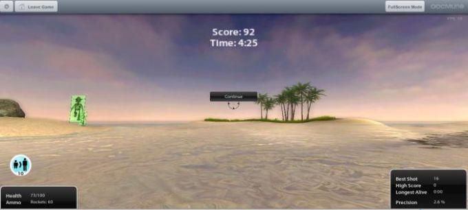 3D Paradise Paintball Widget