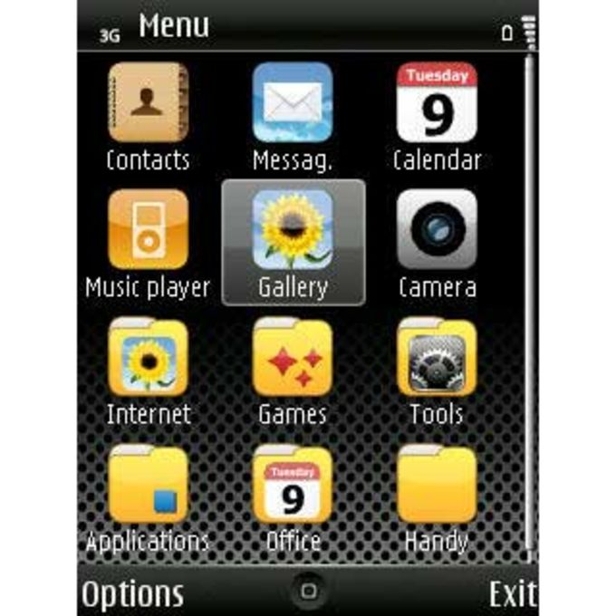 Tema iPhone Dark