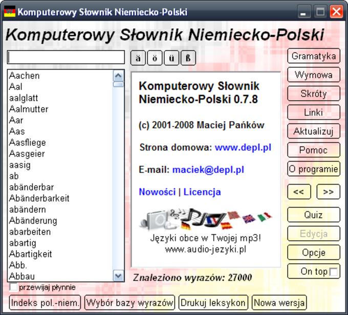 Komputerowy słownik Niemiecko-Polski