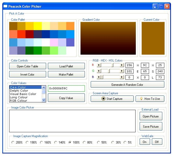 Peacock Color Picker