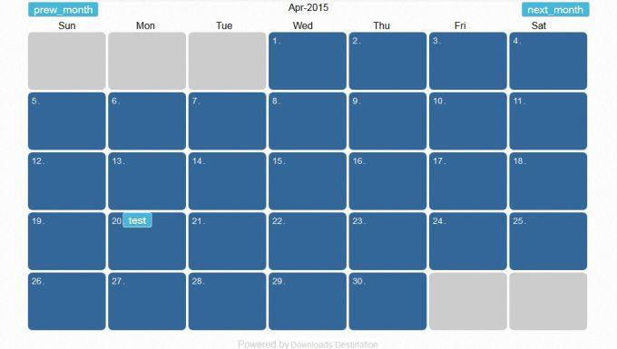 PHP Calendar and Event Management script