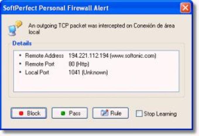 SoftPerfect Personal Firewall