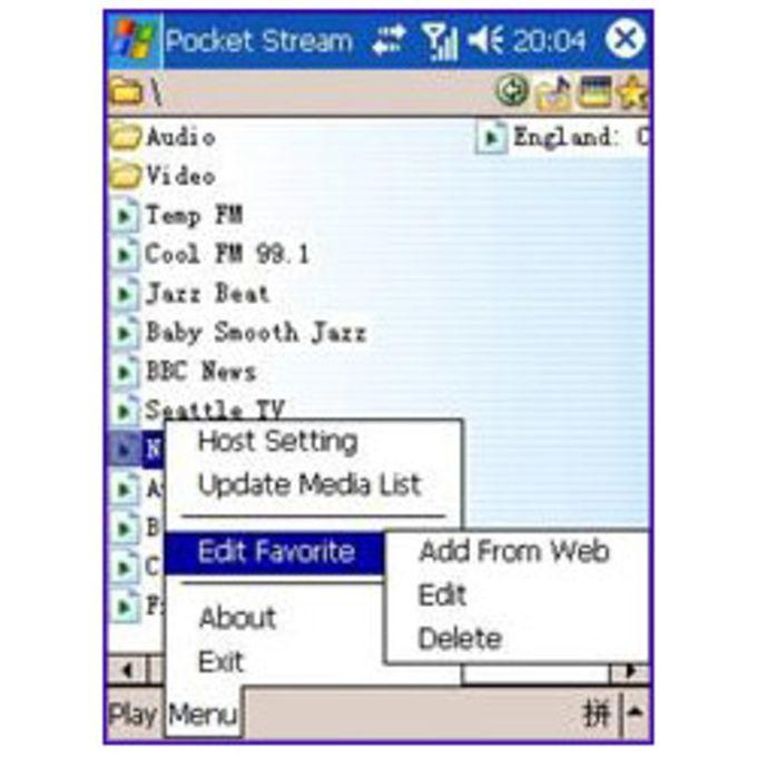 Pocket Stream Server