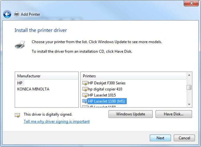 Windows 7 install (wireless with usb and cd) hp laserjet p1102w.
