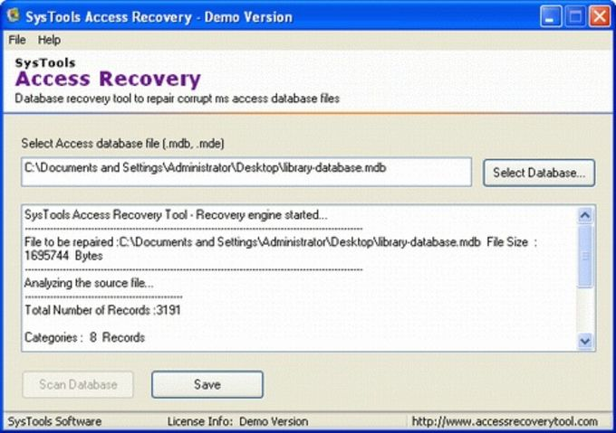 AccessFIX Database Recovery