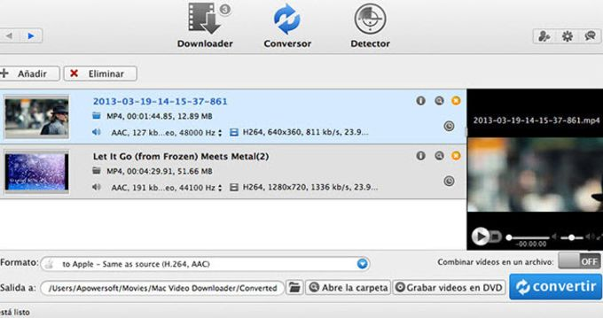 Convertidor de Video para Mac de Apowersoft
