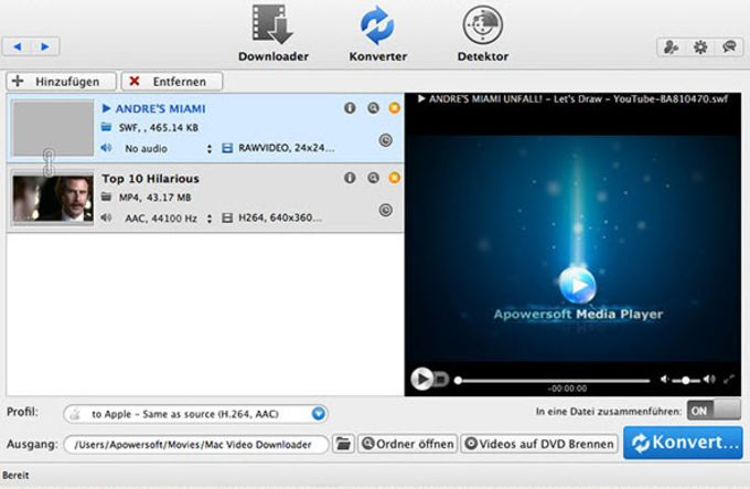Apowersoft Convertitore Video per Mac