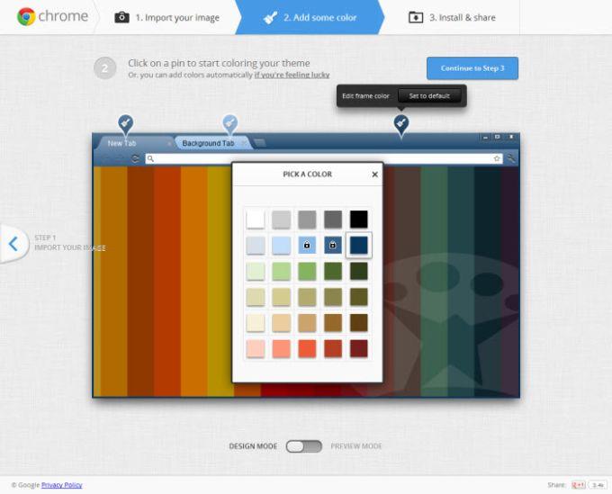 Elegir color de tema