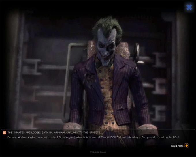 Batman: Arkham Asylum Villains Screensaver