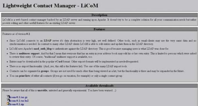 Lightweight Contact Manager