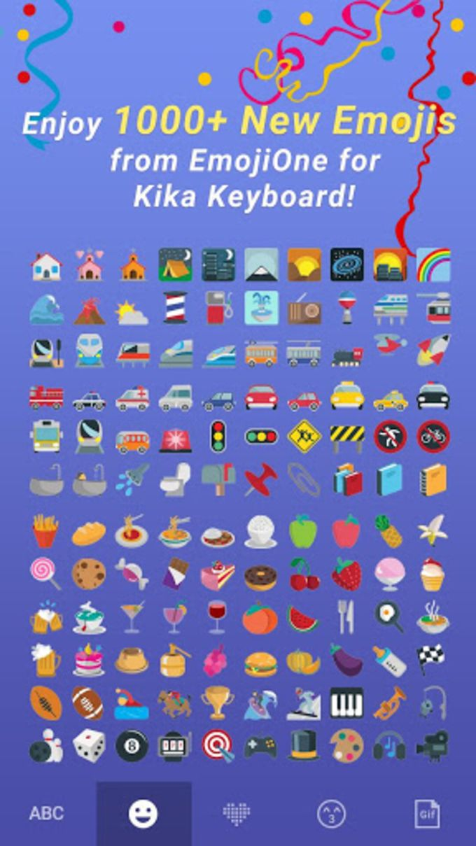 Emoji One Kika Keyboard Plugin