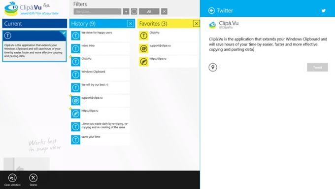 Clipà.Vu Clipboard Free für Windows 10