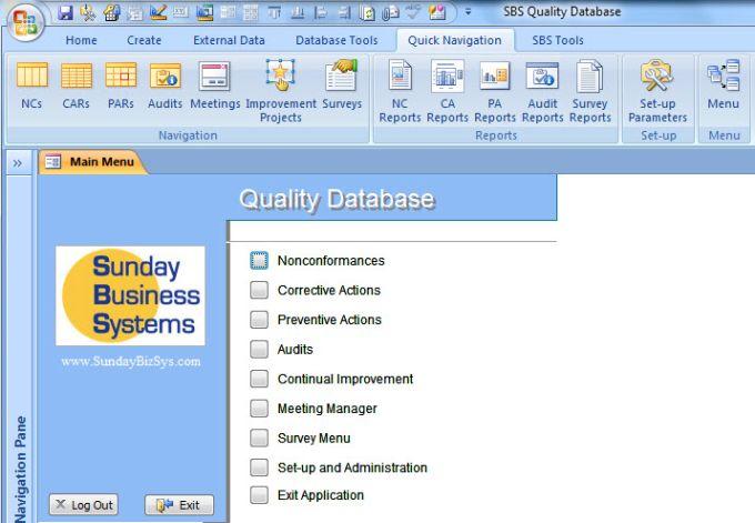 SBS Quality Database