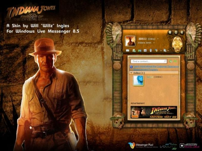 Indiana Jones 4 Messenger Skin