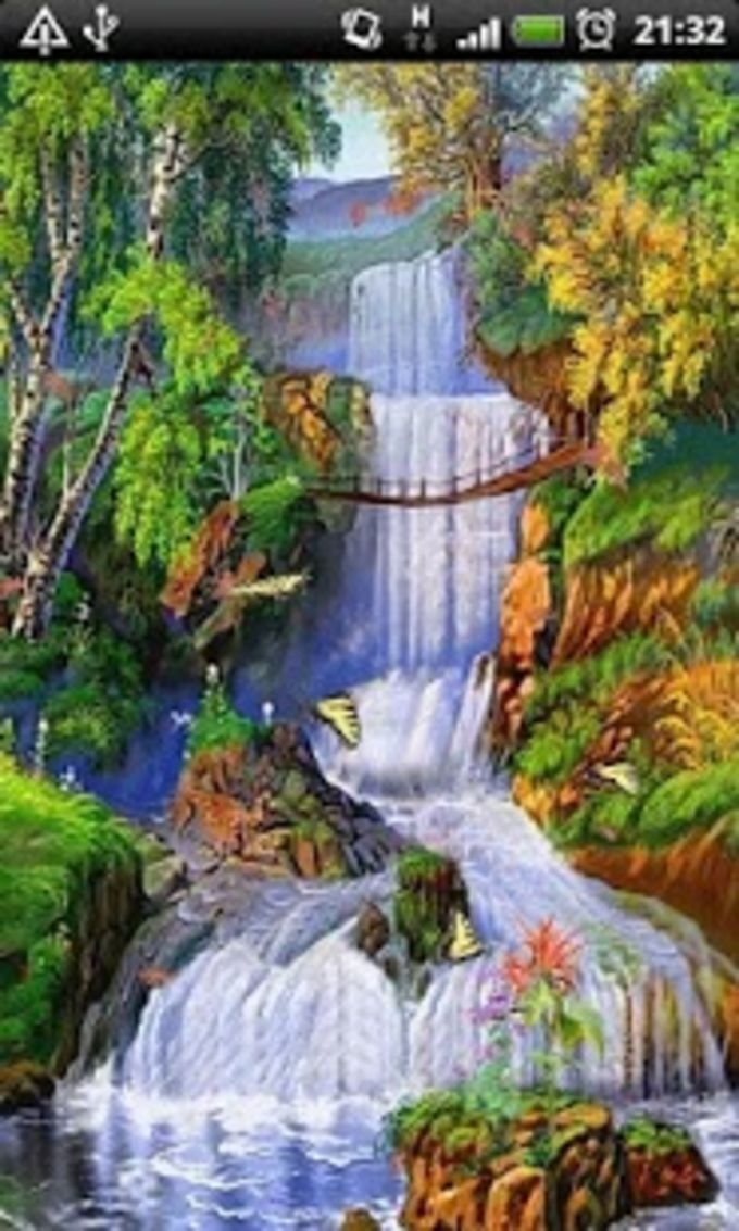 Autumn Waterfalls LWP