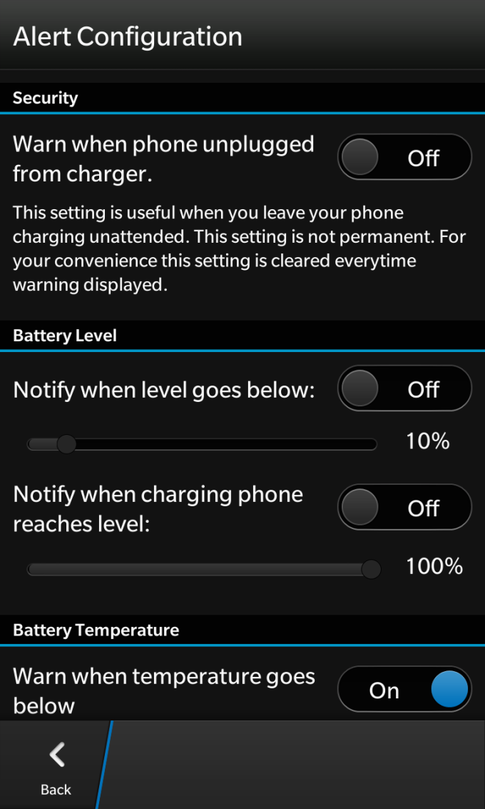 BX Battery Info