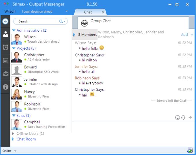 Output Messenger