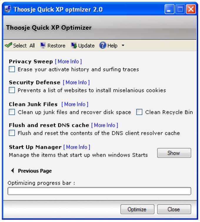 Thoosje Quick XP Optimizer