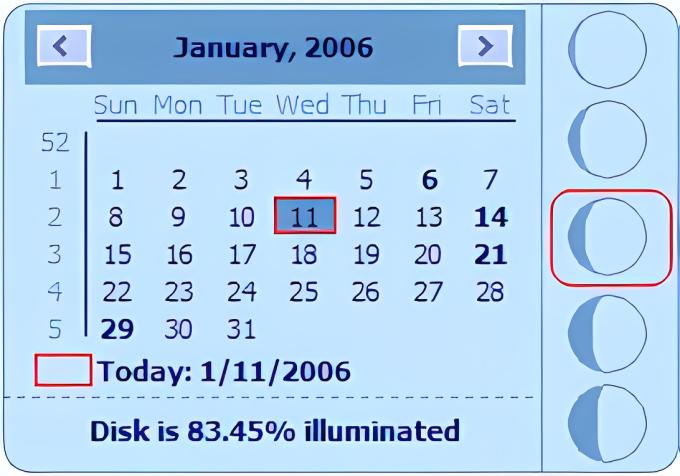 Desktop Lunar Calendar