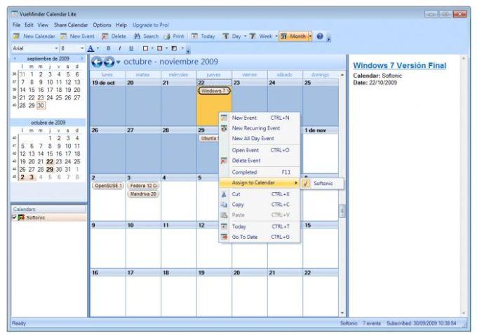 VueMinder Calendar